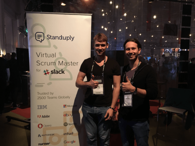 Standuply team at Slush