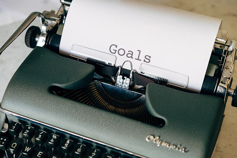 """the worrd """"goals"""" on the paper list"""