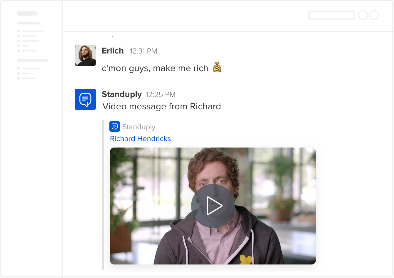 Video Messaging App for Slack Standuply